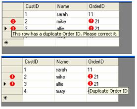 Data grid view cell validating